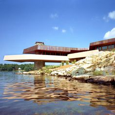 Petra Island (located on Lake Mahopac in Putnam County, New York) is an 11-acre private island complete with a stunning Frank Lloyd Wright-designed house, guest cottage and artist studio. There are views from every room, six fireplaces, a helipad