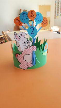 Verjaardagskroon konijn Kids Playing, Paper Art, Origami, Kindergarten, Projects To Try, Classroom, Crown, Cool Stuff, Birthday