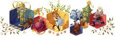"""Il Doodle creato da Google per festeggiare i 120 anni della Prima de """"Lo Schiaccianoci"""" al Teatro Mariinski di San Pietroburgo. Al San Carlo in scena dal 27 dicembre 2012 al 2 gennaio 2013"""