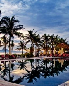 Victoria Hoi An resort & Spa - The huge palm-fringed swimming pool is a worthy alternative to the beach. #JSSpa