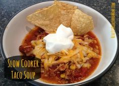 Slow Cooker Taco Soup-Five Ingredients-Clean Eating