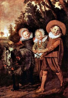 This is just plain creepy. (Frans Hals, Three Children and a Goat Cart, 1928)