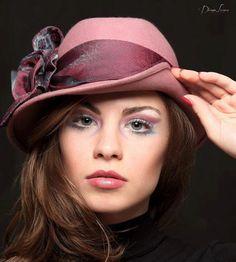 Esclusive Hat ,Vintage Hat ,Powder Pink Hat.  via Etsy.