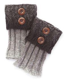 Love this Black Two-Button Boot Cuffs on #zulily! #zulilyfinds