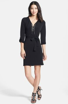 39c4d3a4e92 MICHAEL Michael Kors Chain Lace Jersey Dress on shopstyle.com Spring Wear
