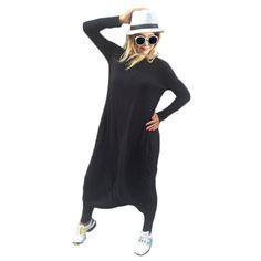Preselfพลัสขนาดเสื้อคลุมหลวมสตรีj umpsuitหลวมสบายๆยาวj umpsuit p laysuitฮาเร็มr omper celebสีดำo versize coveralls