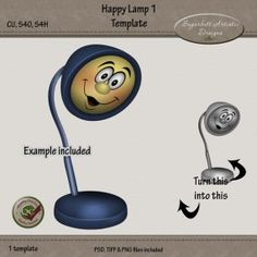 Happy Lamp 1 Template