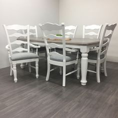 Little White: This is our true pure clean white that is perfect for modern or shabby chic pieces. Little White pairs with all other Superior Paint Co. Dining Chairs, Dining Room, Dining Table, White Furniture, Painted Furniture, White Chalk Paint, White Home Decor, White Houses, Little White