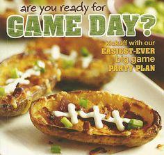 Football Potato Skins for a Super Bowl appetizer