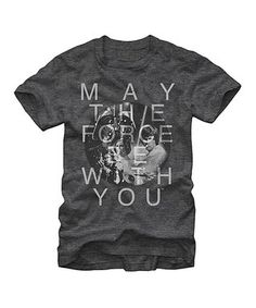 Charcoal 'May the Force Be With You' Tee - Men's Regular
