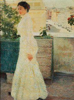 Giacomo Balla: Ritratto all'aperto, olio su tela, 1902, Galleria Nazionale d'Arte Moderna e Contemporanea, Roma