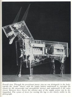 robot dog with transparent body   1958
