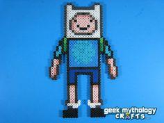 Adventure Time Finn the Human perler beads by GeekMythologyCrafts