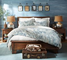 Gentil Traditional Master Bedroom With Joli Paisley Duvet Cover U0026 Sham, Sumatra II  Bed Frame,