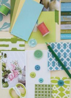 colour palette and button ideas