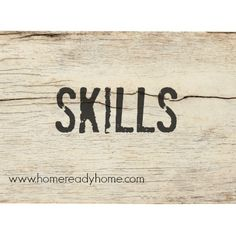 Focus on skills!! Not wishes or resolutions. What SKILLS do I have that sets me apart from others??