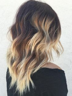 Dark+Brown+Hair+With+Blonde+Balayage