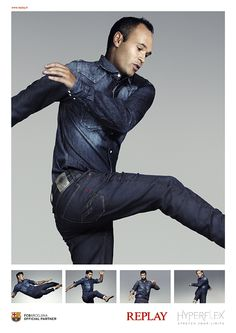 #Hyperflex #jeans Campaign. Can you #StretchYourLmits better than #FCBarcelona?
