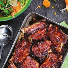 Jennie Walldéns Special Ribs - Recept - Tasteline.com Dessert Recipes, Desserts, Tandoori Chicken, Ribs, Chicken Wings, Pork, Meat, Ethnic Recipes, Tailgate Desserts