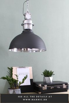 """Make your living room industrial and hip with this impressive hanging lamp. Thanks to the tough details it is a suitable lamp for an industrial setting! This amazing sturdy hanging lamp from the brand has a so-called """"industrial"""" look. This means that the lamp is inspired by the lamps that arose in the industrial revolution. This allows you to create an industrial look . The lamp has a diameter of 35 cm and a height of 50 cm. The lamp is available in other colors and sizes."""