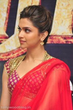 Deepika Padukone- such elegant hair and makeup