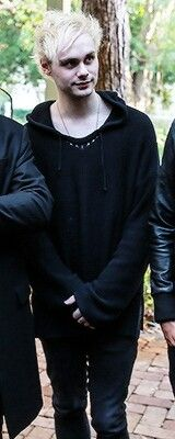 Michael in all black is going to be the death of me.