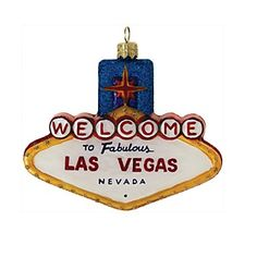 "Landmark Creations Las Vegas Sign Ornament, 3.5"" | Bloomingdale's"