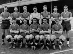 1962 The 1961 England team at Highbury Back rowlr Jimmy Armfield Bobby Robson Ron Flowers Ron SpringettPeter Swan Mick McNeill Brian Miller Front row. Football Squads, Sport Football, Scotland People, Bobby Robson, Blackpool Fc, Jimmy Greaves, Back Row, Front Row, Sports