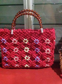 Современные сумочки в технике макраме - Ярмарка Мастеров - ручная работа, handmade