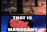 mahogany!