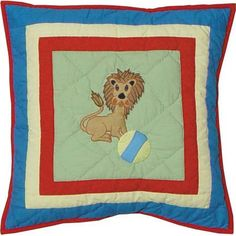 Circus Cotton Throw Pillow