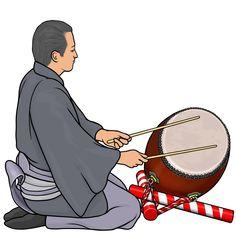 大相撲で使われる太鼓 sumo drum / 楽器のイラスト Musical Instruments, Musicals, Disney Characters, Fictional Characters, Japanese, Cartoon, Disney Princess, Music, Music Instruments
