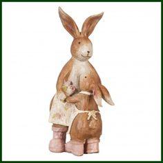 Süßes Deko Kaninchen mit Kind Dekoration Hase