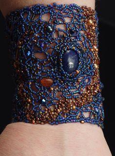 Coalesce: A Beadwoven Cuff Bracelet. $250.00, via Etsy.