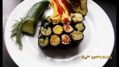 Raw Vegan Zucchini Sushi   Rawmunchies.org  #RECIPE HERE: http://www.rawmunchies.org/recipes #Raw #vegan #rawvegan #glutenfree #rawvegansushi #vegansushi #sushi🍣 #youtubevideo #youtuberecipe