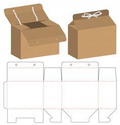 Similar Images, Stock Photos & Vectors of Box packaging die cut template design. mock-up - 1296885919 Diy Gift Box, Diy Box, Diy Gifts, Cardboard Box Crafts, Paper Crafts Origami, Paper Box Template, Box Patterns, Diy Birthday, Box Design