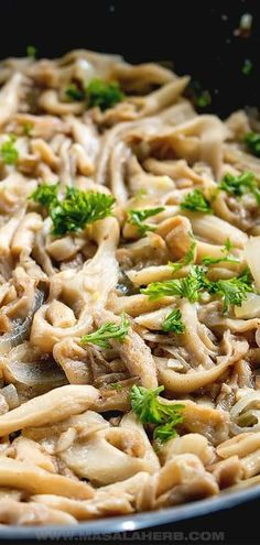 Easy Sauteed Oyster Mushrooms - Vegan recipe, side dish, easy dinner ideas, one pot, quick recipe, white oyster mushrooms, preparing, frying, how to cook oyster mushrooms, oyster mushrooms varieties. how to clean oyster mushrooms, 15-minute recipe MasalaHerb.com #oystermushrooms #vegan Oyster Mushroom Recipe, Chicken And Mushroom Pie, Mushroom Wine Sauce, Steak Side Dishes, Side Dishes Easy, Quick Recipes, Light Recipes, Meatless Recipes, Healthy Recipes