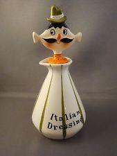 1959 HOLT HOWARD Pixieware Italian Dressing Bottle w/ Spout Signed As Is