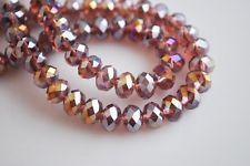 Hot Wine Red A+B Rondelle Bicone Glass Crystal Jewelley Spacer Beads 8mm(70pcs)