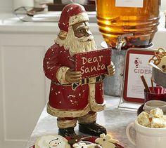 Carved Wood Santa. Vintage Christmas ღϠ