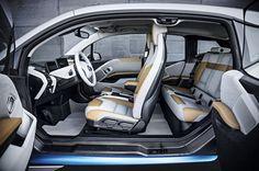 Inside car - BMW electric car