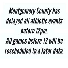 ALERT: ALL GAMES BEFORE 12:00 pm HAVE BEEN CANCELLED DUE TO WEATHER CONDITIONS. Stay tuned for updates.