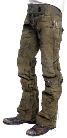 Men's style and fashion. Modern military-inspired pants and boots. ZsaZsa…