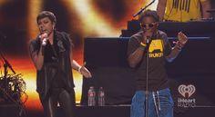 Lil Wayne and Keyshia Cole at the iHeartRadio Music Festival 2012. #iHeartRadio #LilWayne #KeyshiaCole