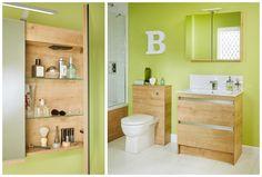 Eton oak is a warm textured finish with matching interiors Fitted Bathroom Furniture, Bathroom Medicine Cabinet, Interiors, Flooring, Warm, Design, Interieur, Wood Flooring, Interior Decorating