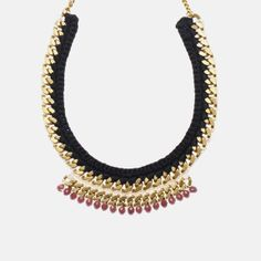 Henriette Botha - Orchid Necklace - $240.00 www.inspiredluxe.com #inspiredluxe #jewelry #henriettebotha #handmade #empowerartisans #madeinAfrica #southafrica #africanjewelry #fairtrade African Jewelry, African Design, Brass Chain, Modern Jewelry, Crystal Beads, Purple, Pink, Orchids, Ethnic