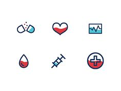 Health Icons by Lauren Davis #Design Popular #Dribbble #shots