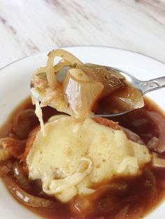 Crock Pot Guinness French Onion Soup & Irish Cheddar Crouton