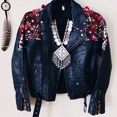 embellished Biker jacket