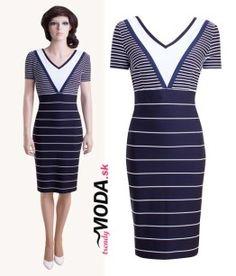 Dámske letné šaty v námorníckom štýle-trendymoda.sk Bodycon Dress, Dresses, Fashion, Gowns, Moda, La Mode, Dress, Fasion, Day Dresses